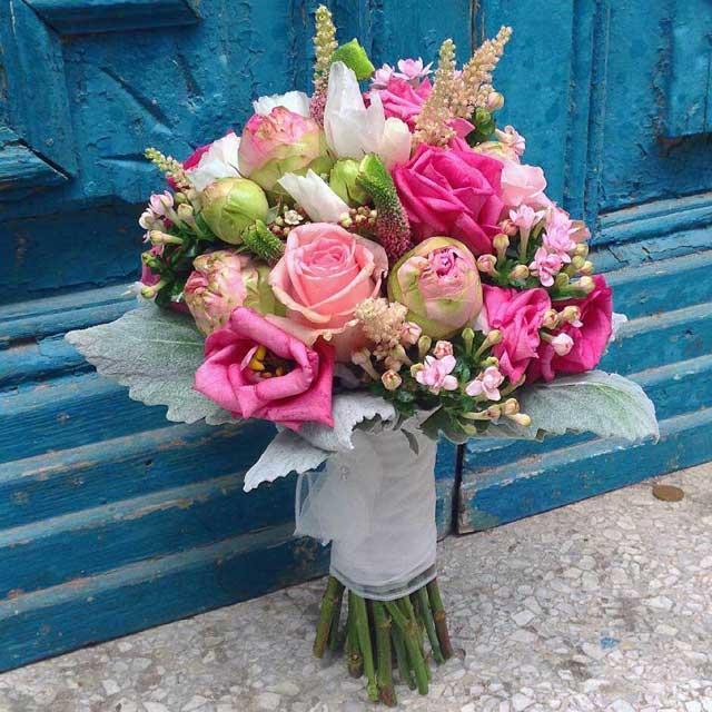Bouquet de flor fresca, ramos de novia
