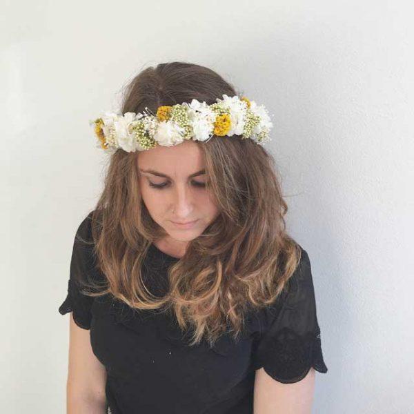 coronas flor preservada seca novias ocasiones especiales