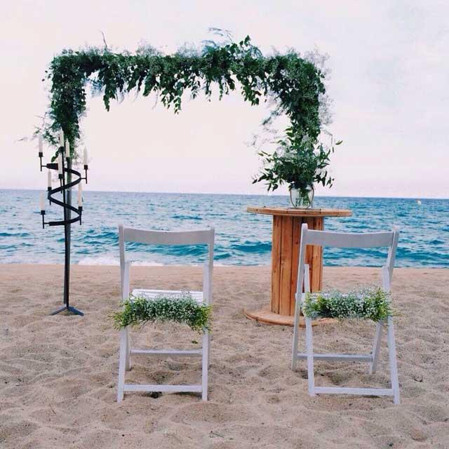 Decoración para todo tipo de eventos. Boda en la playa.