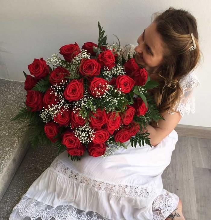 Ramo de rosas rojas, de venta en tienda online para toda España
