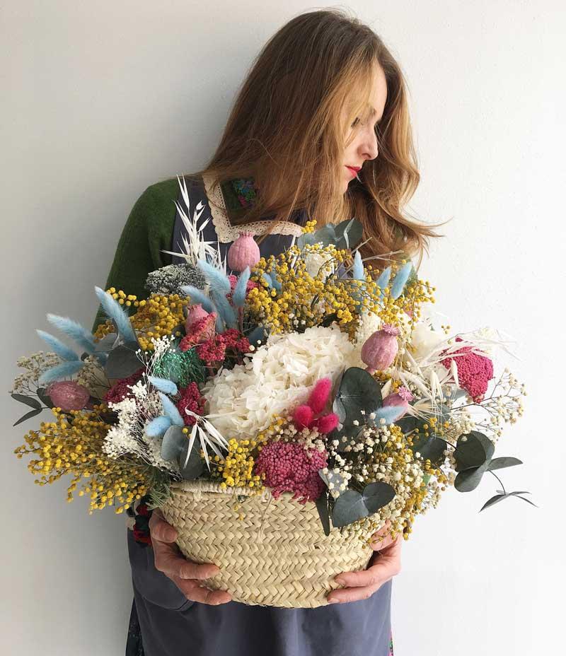 Talleres de composiciones con flor seca y preservada