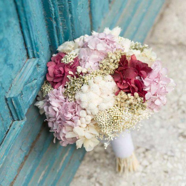 Ramos de novia con flor seca y preservada