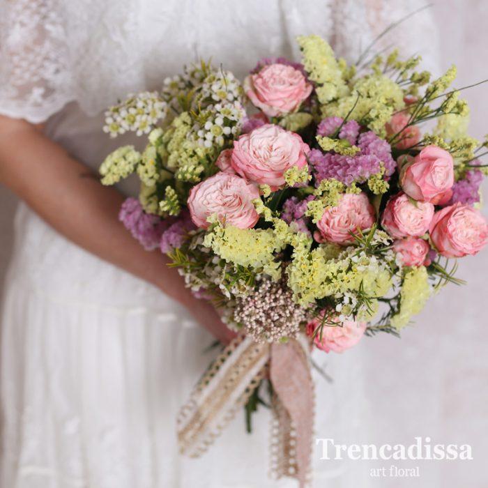 Ramo de novia con flor natural