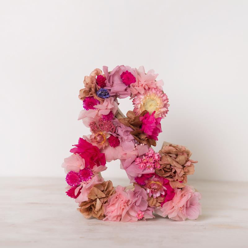 Letra A Decorada Con Flores