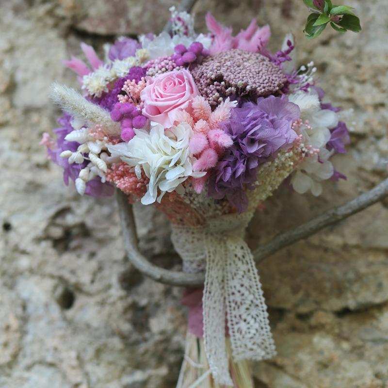 Delicado Precioso Y Espectacular Ramo De Novia Con Flores