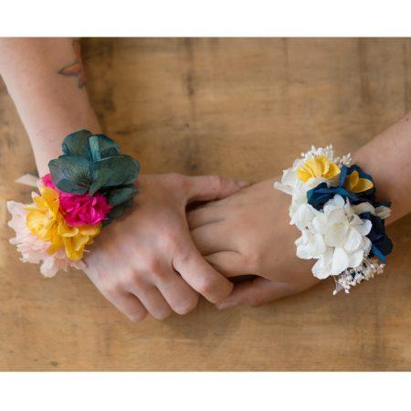 """pulseras florales o """"corsages"""""""