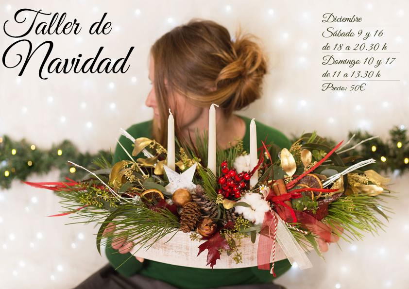 TALLERES FLORALES DE NAVIDAD, DICIEMBRE, EN TRENCADISSA ART FLORAL DE BADALONA