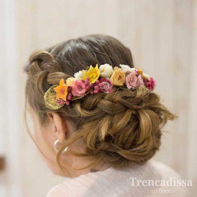 Semi corona de porcelana fría moldeada flor a flor y pintada a mano, venta online