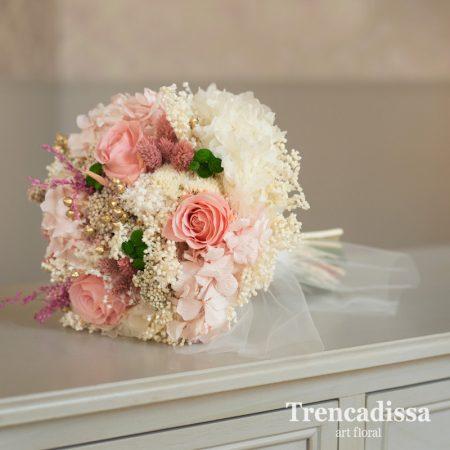 Ramo de novia con flor seca y preservada, personalizado