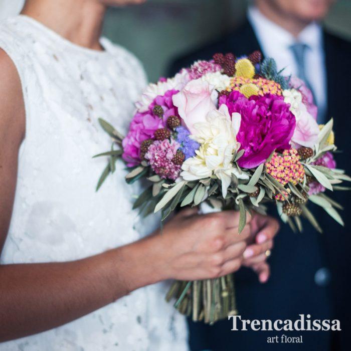 Ramos y bouquets de novia con flores naturales, personalizados, a juego con coronas y corsages