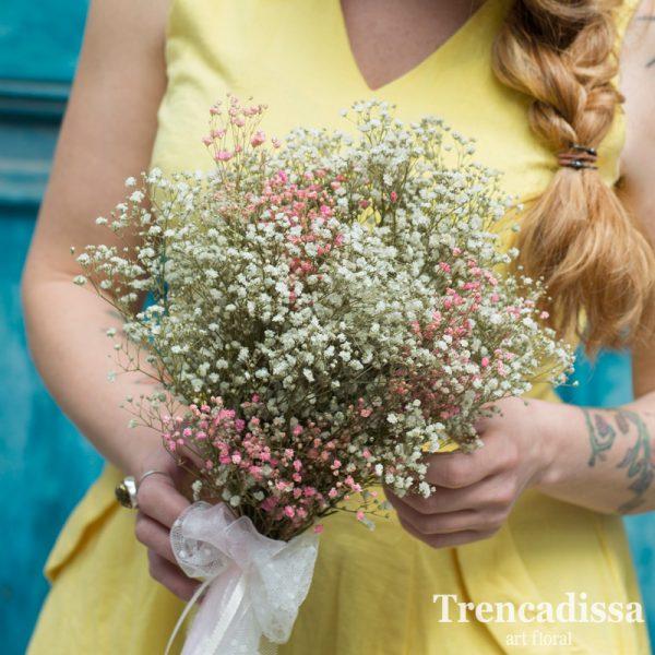 Ramo de novia de paniculata rosa y blanca preservada venta online