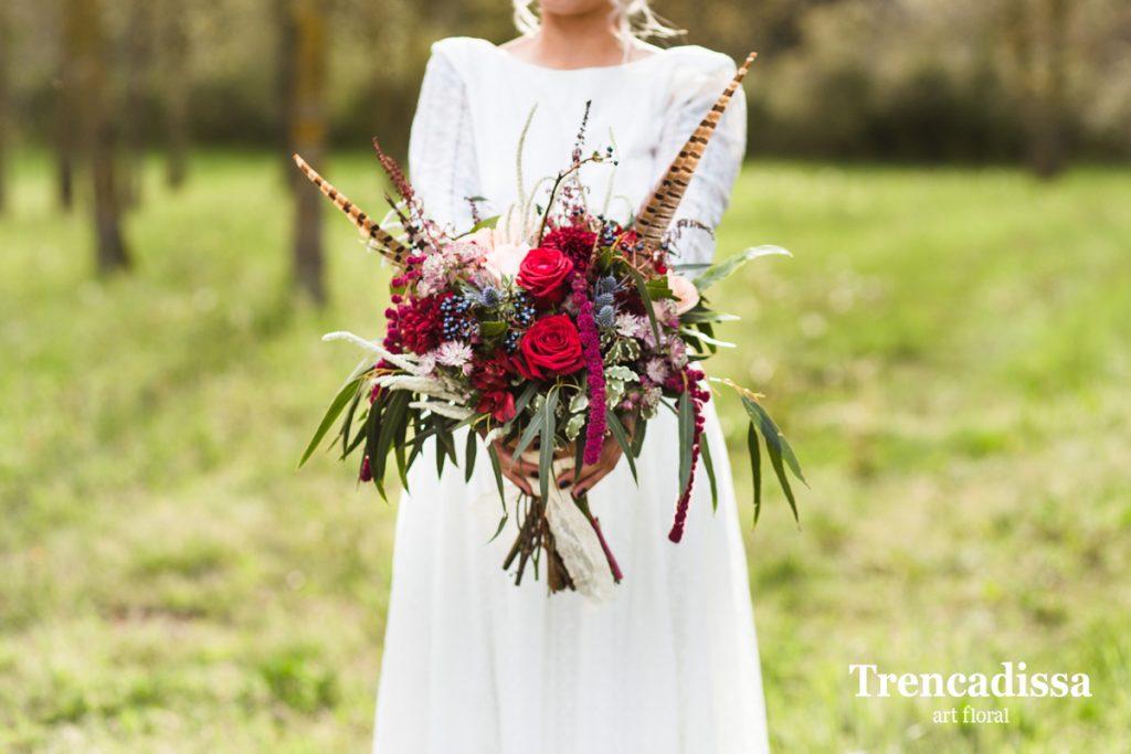 Ramos con flores secas y preservadas o frescas y naturales para bodas en Barcelona