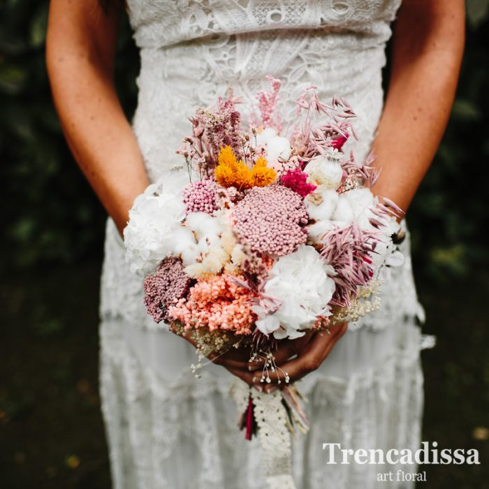 Ramos de novia con flor seca y preservada, bouquets eternos, venta online para toda España