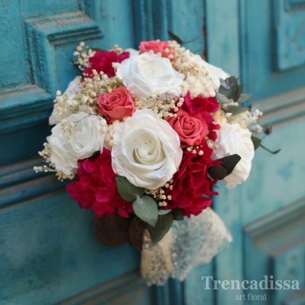 Arlette, ramo de novia realizado con flor preservada