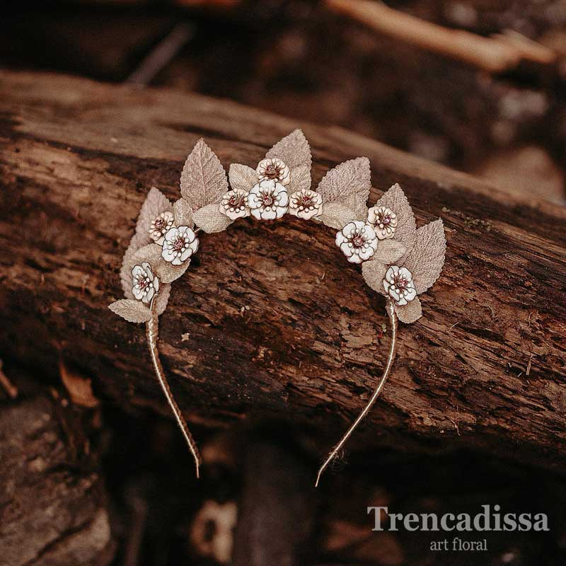 Diademas con porcelana fria o terciopelo para bodas o comuniones