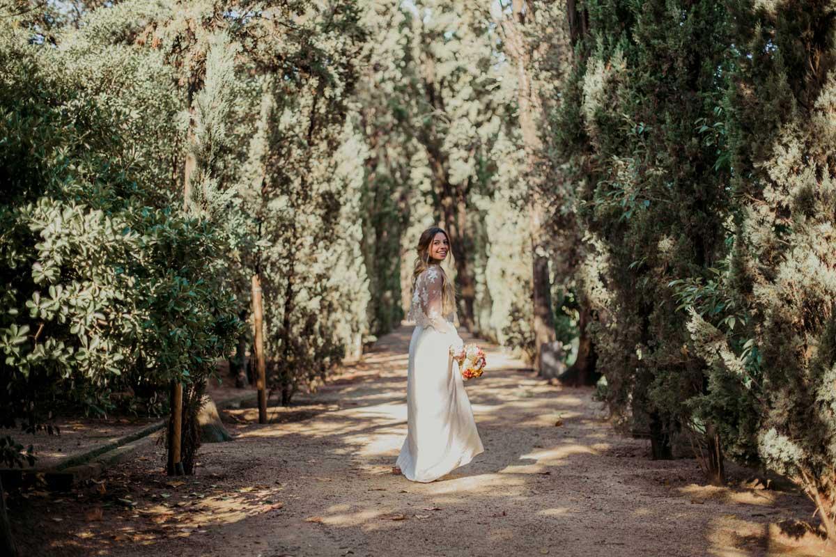 Ramo de novia con flor seca y preservada en tonos ocres