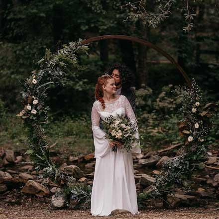Decoración floral de una boda celta