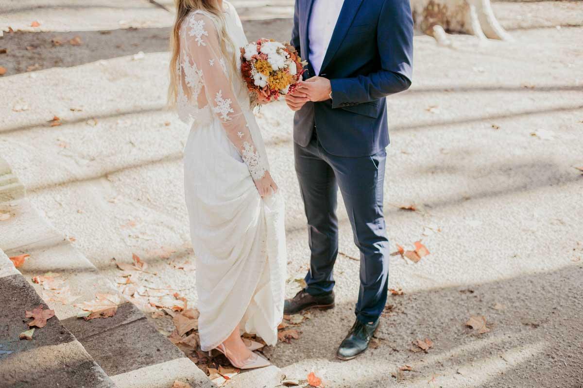 Ramo de novia preservado tonos otoñales