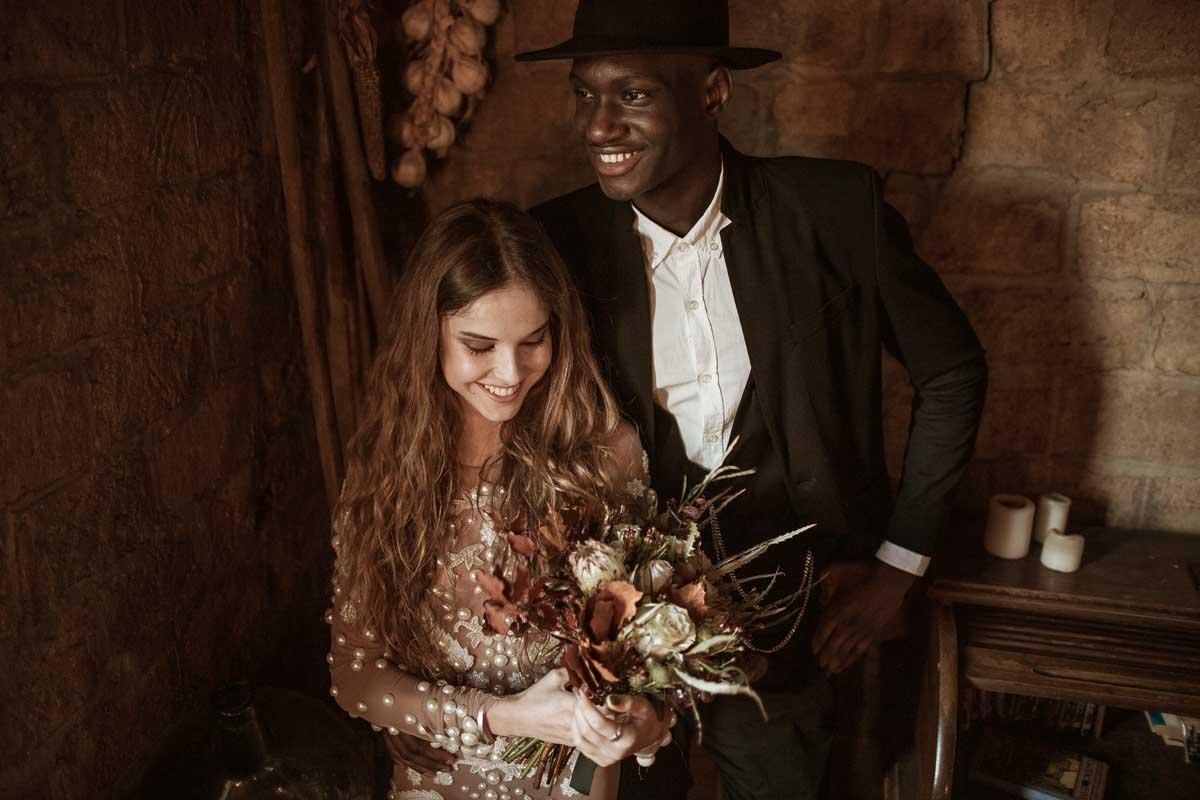 Ramos de novia inspiración folk