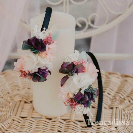 Diadema floral preservada