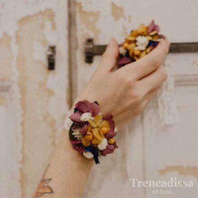 Pulsera floral preservada