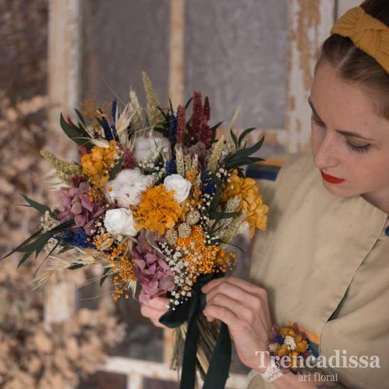 Keren, ramo de novia silvestre preservado