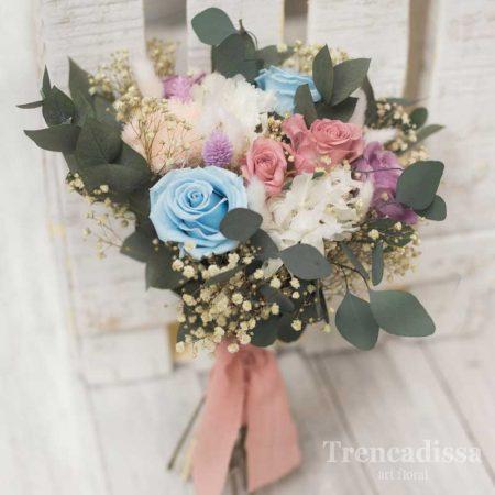 Floristería en Badalona. Ramo de novia preservado venta online