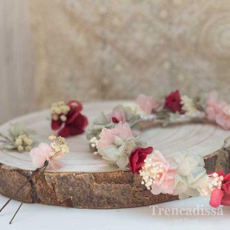 Pinza floral preservada para el pelo, a juego con el ramo de la novia
