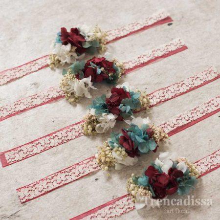 Pulseras florales para bodas y eventos, venta online