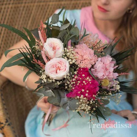 Victoria, ramo de novia preservado con rosas inglesas