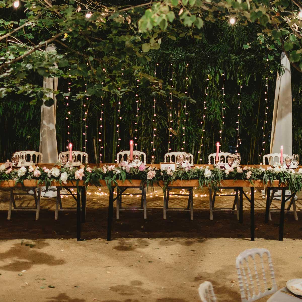 Decoración floral de bodas y banquetes
