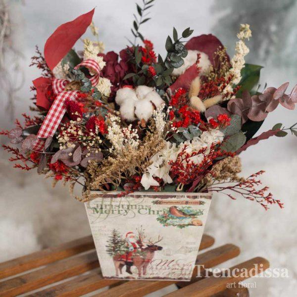 Caja de navidad con flores preservadas venta online