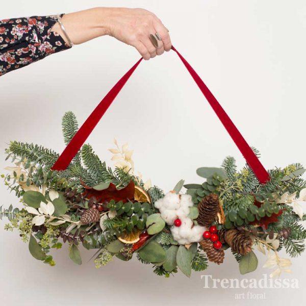 Colgante floral navideño, para puertas y paredes, venta online