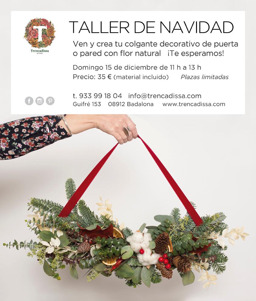 Taller floral de Navidad en Badalona