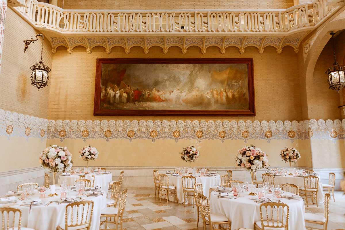 Decoración floral de bodas en Barcelona, mesas y banquetes con bouquets
