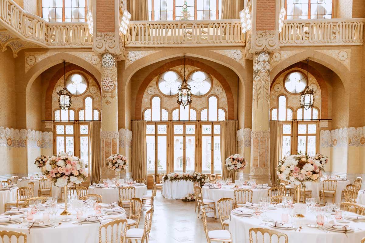 Decoración floral de banquetes de boda