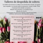 Talleres florales de despedida de soltera