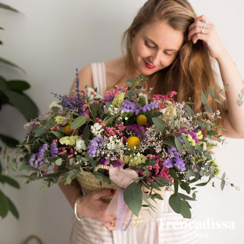 Capazo de flor preparada para secar, venta en Badalona y tienda online