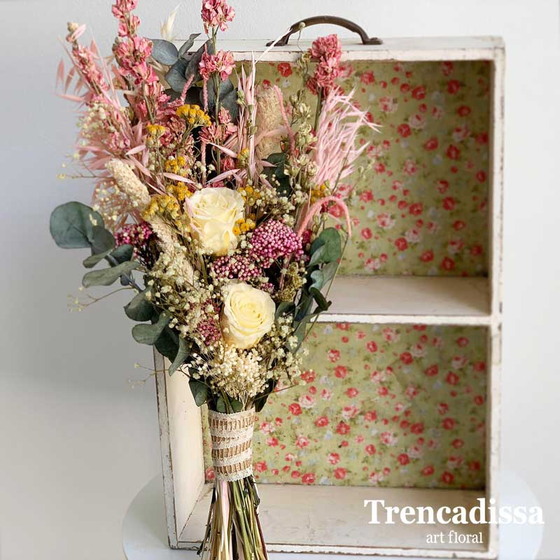 Ramo de flores secas y preservadas, venta online Badalona