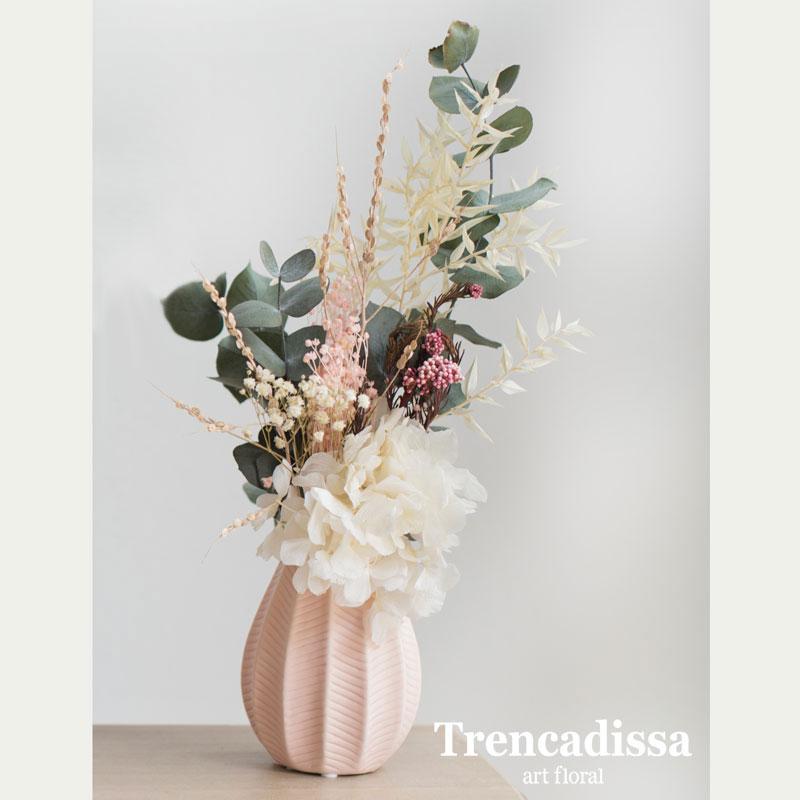 Jarrón de cerámica con flor seca y preservada, venta online desde Barcelona