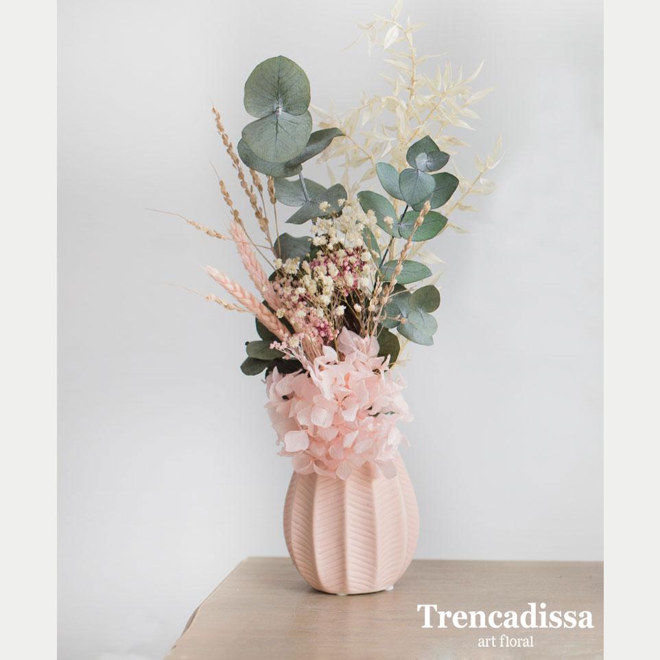 Jarrón de cerámica con flor seca y preservada, venta online