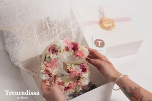Letras decoradas con flores secas y preservadas Badalona-Barcelona