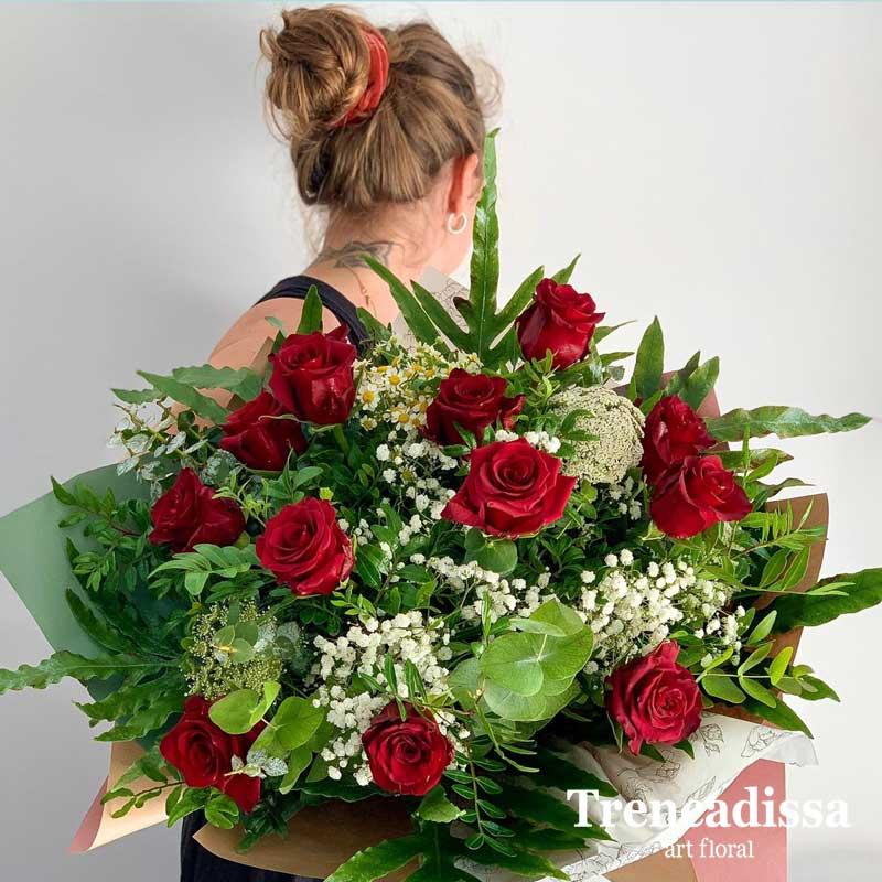 Ramo de 12 rosas rojas venta online