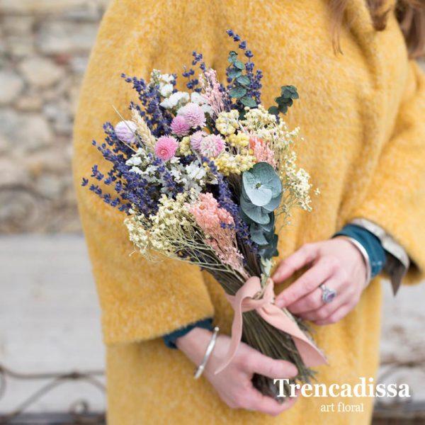 Ramo decorativo con flor seca y preservada, venta online