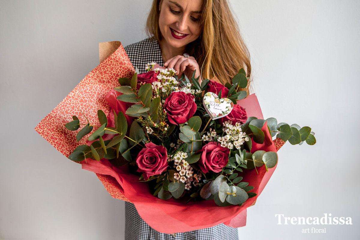 Rosas rojas, ramos naturales para san Valentín, venta online