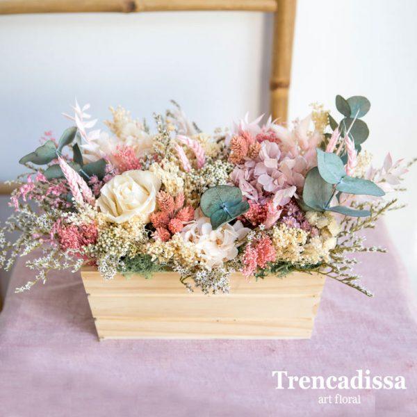 Cajas de madera con flor seca y preservada, venta online