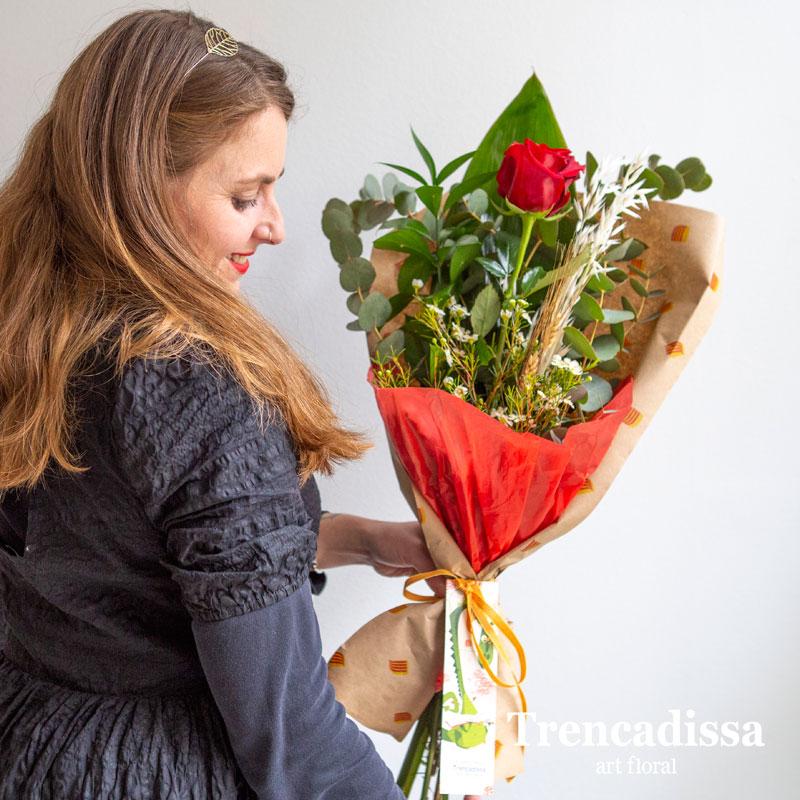 Rosa roja natural Sant Jordi Badalona