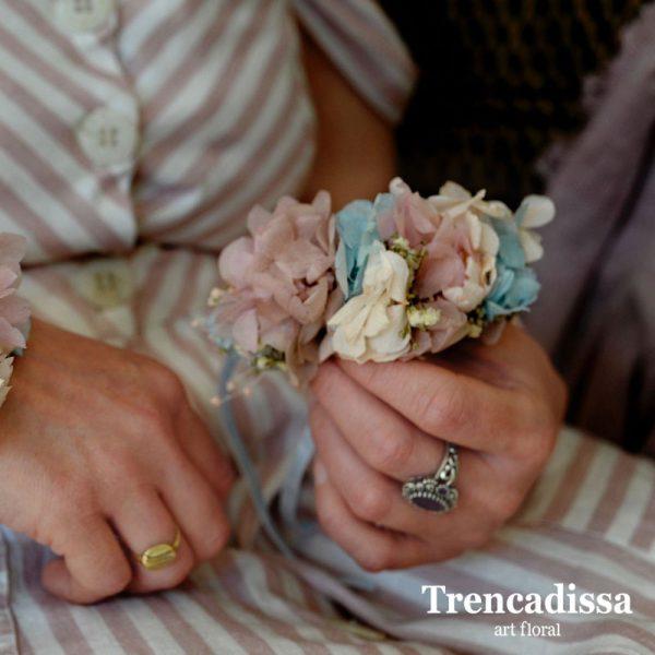 Peineta floral preservada para boda
