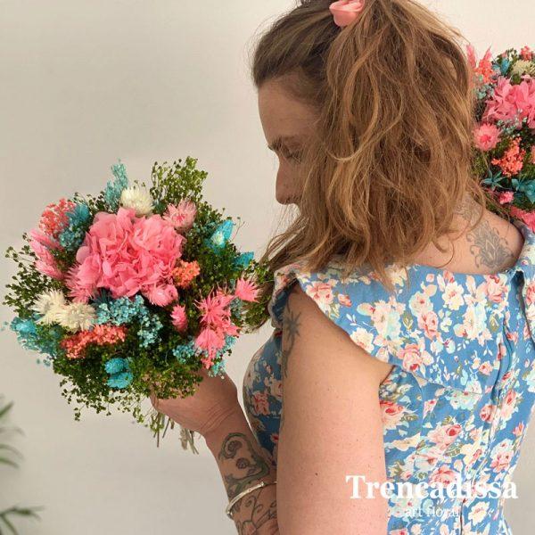 Ramos con flor seca y preservada