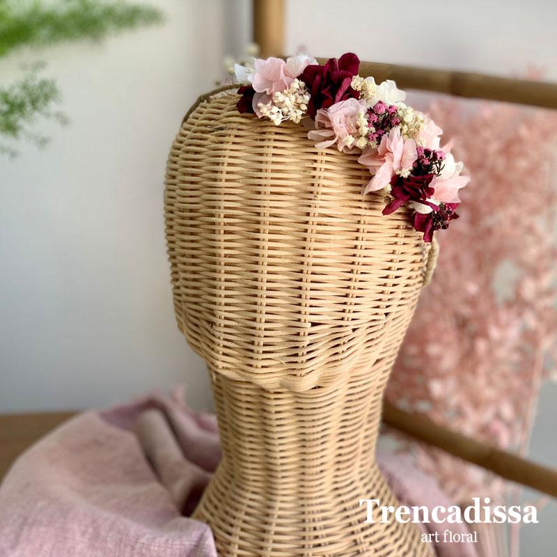 Tocado lateral floral preservado venta online desde Barcelona